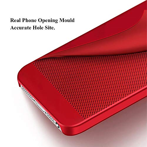 iPhone 5/5S/SE ケース TONVER 完全保護スマホカバー 衝撃防止 PC素材 熱放散 変形なしおしゃれ 指紋防止 (ローズゴールド)