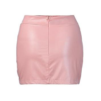 Faldas, Challeng Mujeres Sexy vendaje cuero cintura alta lápiz ...