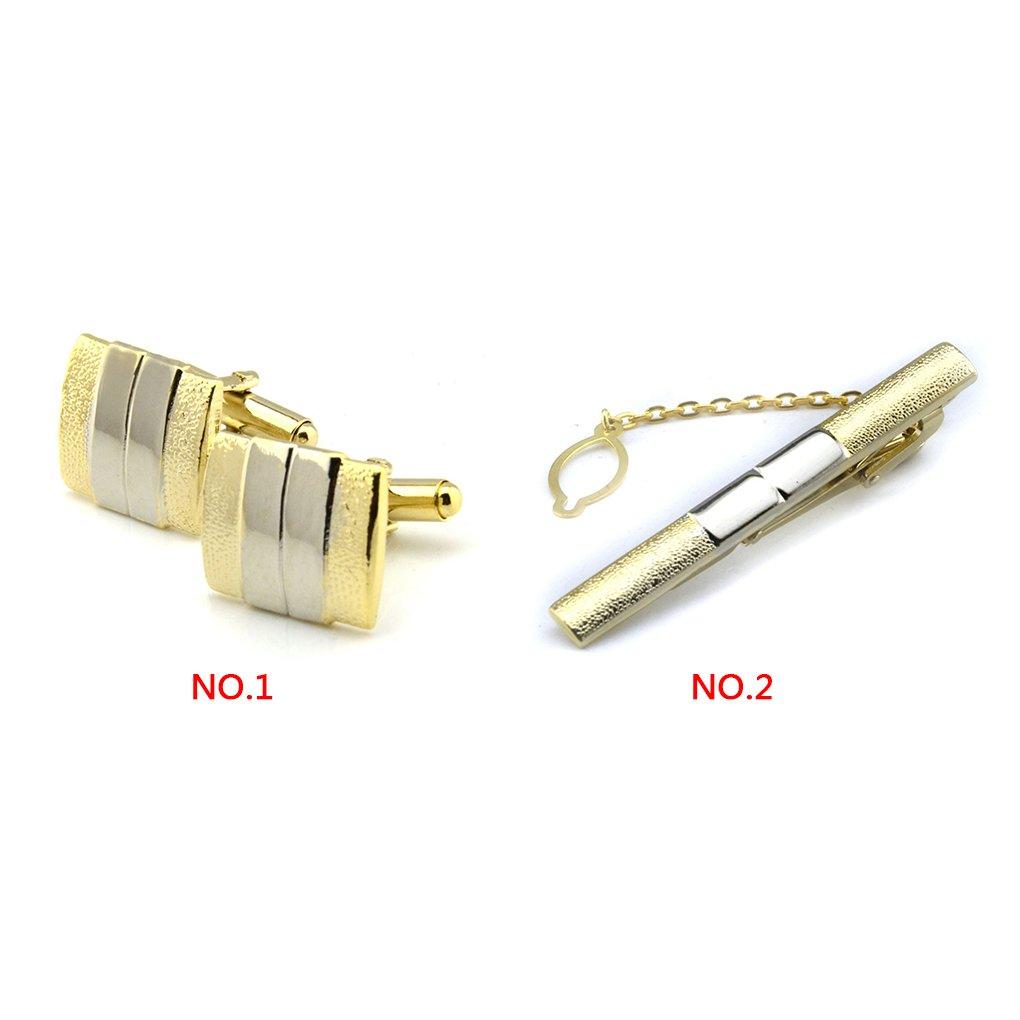 6mm 10mm//60 LUFA Deux Boutons de Manchettes et Attache Clip Set comme Un Design Parfait Classique et /à la Mode Cadeau Bouton de Manchette 20