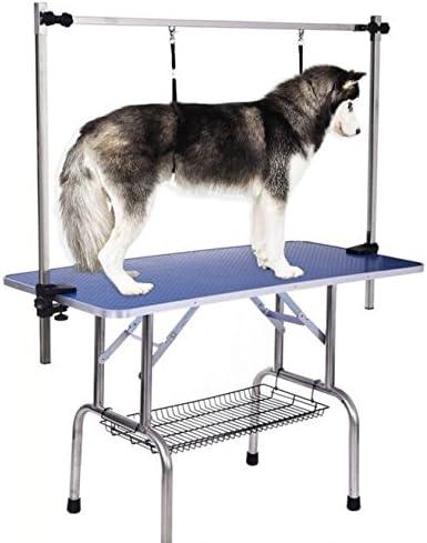 iKayaa Mesa Plegable de Aseo para Perro Mascota Tabla 90 * 60 cm ...