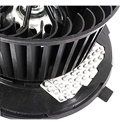 KARPAL Heater Blower Motor With Fan Cage and Resistor 1K1820015E Compatible With Audi A3 TT Volkswagen Golf Jetta Beetle: Automotive