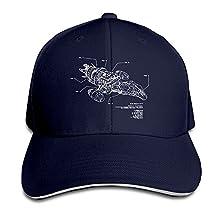 Serenity-Ship-Schematic-Firefly-T-Shirt Men's Flex Baseball Cap