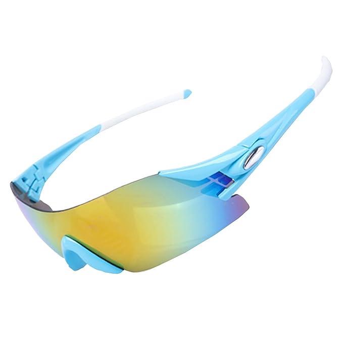 KUWOMINI.Not Facilmente Deformarsi Protezione UV Sbiadita Sport Occhiali Da Sole,Black-AllCode