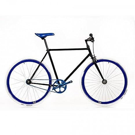 Bicicleta negra detalles zules: Amazon.es: Deportes y aire libre