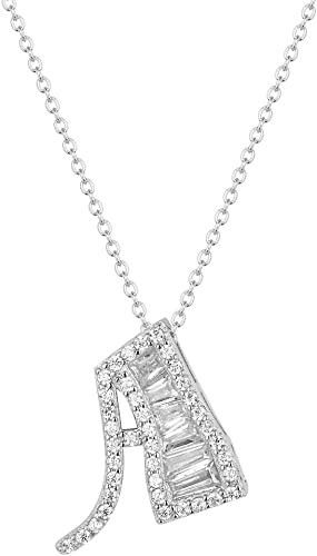 Initial G Pendant Cubic Zirconia 925 Sterling Silver CZ