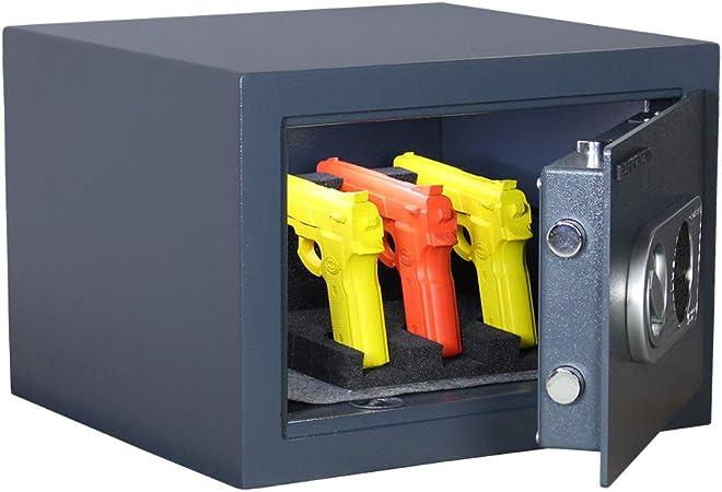 profirst Armas cortas Caja fuerte Pistol con pistola plana, con cerradura electrónica, homologación según EN 0 según CSN en 1 1143 – 1, 42 x H30 X T39, incluye material de fijación: Amazon.es: Bricolaje y herramientas
