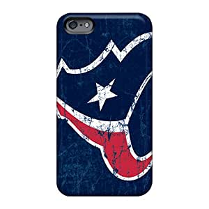Protector Hard Phone Cover For Apple Iphone 6 With Unique Design Attractive Houston Texans Pattern RandileeStewart