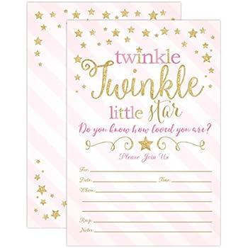 amazon com twinkle twinkle little star baby shower invitations