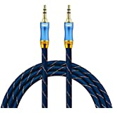 Aux Cable,EMK 3.5mm Male to Male Stereo Audio Cord[24K Gold-Plated,Sound Quality] EMK 3.5mm Auxiliary Audio Cable for Laptop,Phones,Tablets,MP3 Players,Car/Home Aux Stereo, Speaker (3Ft/1Meters)