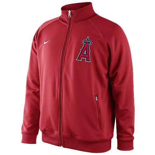 (Nike Los Angeles Angels of Anaheim Rundown Full Zip Track Jacket - Red (XX-Large))