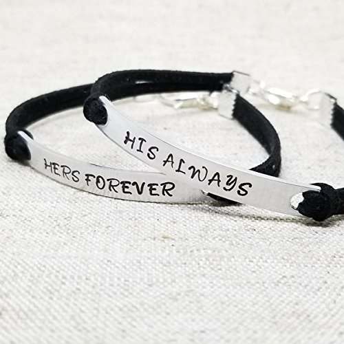 0b5da6af6c94 Amazon.com  His Always Hers Forever Couples Bracelets by Bluma ...