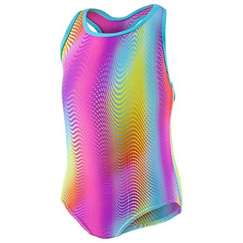 - Speedo Girls Racerback One Piece Swimsuit (8, Rainbow Bright)