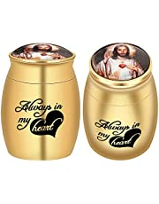 Stainless Steel Mini Cremation Urns for Ashes Keepsake Urns for Human Ashes Memorial Ashes Holder