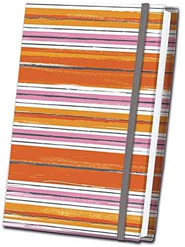 Orange Striped Fabric Journal