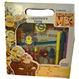Despicable Me 3 Minions Creativity Tote (14 piece) Includes 3 Markers, 3 Crayons, 1 Activity Pad, 2 Stamps, 1 Ink Pad, 1 Storage, 1 Pot of Sequins, 1 Glitter Glue & 1 Tote