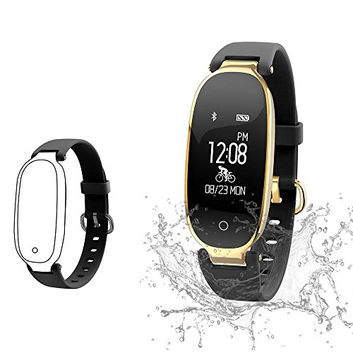 Fitness Tracker, Women Sport Tracker Smart Watch Band Bracelet, Heart Rate Monitor Smart Bracelet,Women Swimming Waterproof Wristband Watch with Health Sleep Activity Tracker Pedometer for Smart Phone