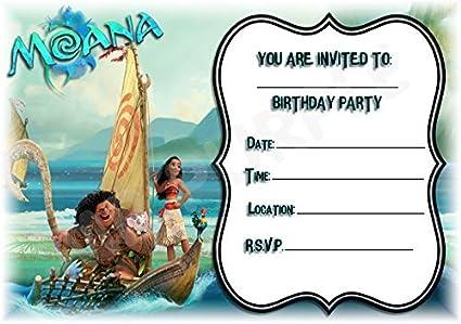Disney Moana cumpleaños fiesta invita a - diseño de paisaje ...