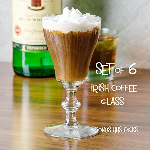 Libbey 8054 6 oz. Georgian Irish Coffee Sun-glasses, SET OF 6 w/bonus HHS picks