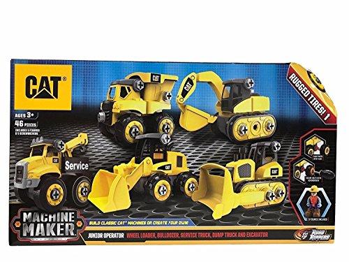 Caterpillar Construction Toys (CAT Machine Maker Junior Operator Building Set)