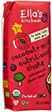 Ella's Kitchen Organic Coconut Milk Nutritional Shake - Broccoli Plums Pears - 4 pk