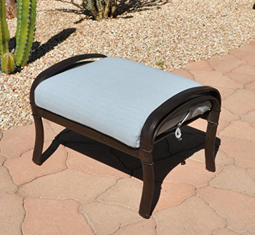 SALE - CushyChic Outdoors Terry Slipcover for Ottoman Cushion in Dove Grey - Slipcover Only - Cushion Insert NOT Included