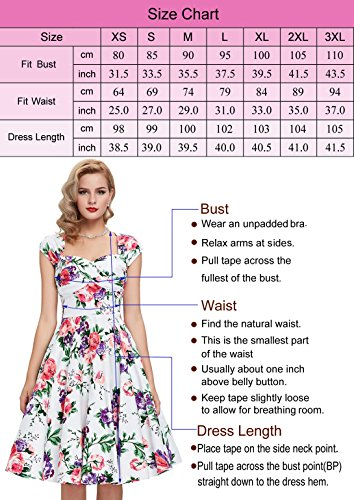 Vestido Color años estilo 50 nbsp; Karin fiesta 50 de Grace CSnPq5w