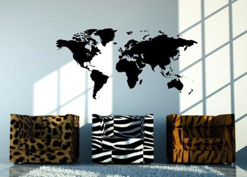 Wandtattooladen Wandtattoo - Weltkarte Größe 180x90cm Farbe Farbe Farbe  Schablone B00D2MK4FY Wandtattoos & Wandbilder 89d69c