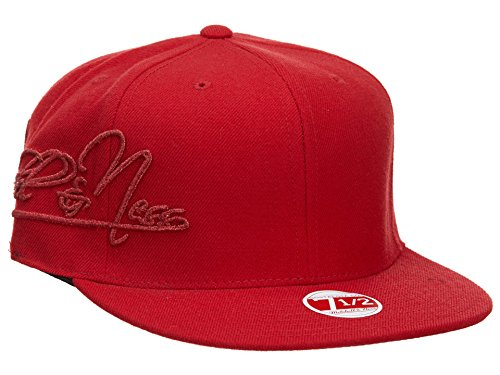 Mitchell & Ness New Era Fitted Hat Mens Style: HAT620-RED Size: 7 1/2