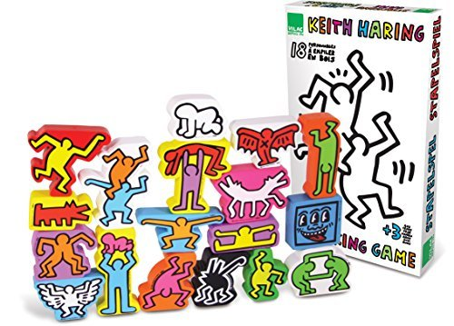 Vilac Set of 18 Keith Haring Stacking Figures by Vilac [並行輸入品]   B014MXHKVC