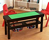 (US) Convertible Lego to Chalkboard Custom Play Table with Built-in Storage