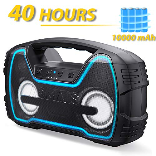 Bluetooth Speakers, AOMAIS Portable Outdoor Wireless Speaker with 10000mAh Battery 丨 40 Hours Playtime, 30W Louder Volume & Deeper Bass丨Bluetooth V5.0丨 IPX7 Waterproof for Party, Beach [2019 Newest]