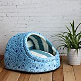 1 Pcs Optimum Popular Pet Half Covered Bed Size S Indoor Kennel Cat Pad Rug Puppy Tent Color Type Blue