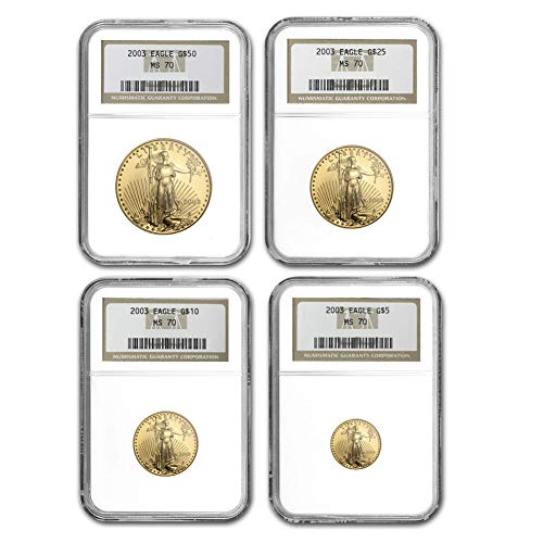 (2003 American Gold Eagle 4 Coin Set NGC MS70 )