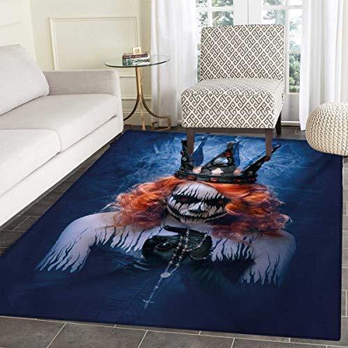 Queen Bath Mat Non Slip Queen Death Scary Body Art Halloween Evil Face Bizarre Make up Zombie Customize Door mats Home Mat 30