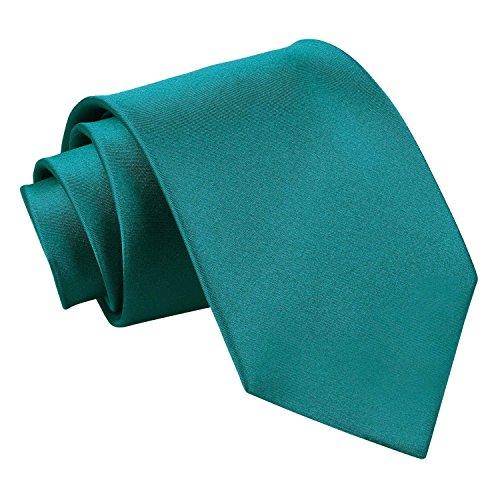 Neck Men Plain Satin Wedding Tie Teal DQT Standard Formal YCZwZx