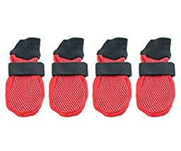 Breathable Mesh Summer Dog Shoe by Midlee (Large)