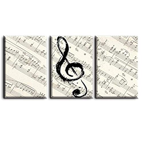 (LLXHG Art Poster Modern Home Framework Wall Musical Notation Book Decor Living Room Canvas Hd Print Painting Modular Pictures 3Pcs No Frame 4060Cm)