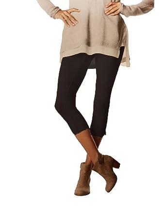 6d32b6fd820c1 Simply Vera Vera Wang Women Smooth Twill Capri Leggings Black Small at  Amazon Women's Clothing store: