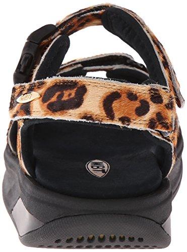 Women's Printed Leather Adjustable 3s Natural Leopard Kisumu Sandal MBT W 1PSPH