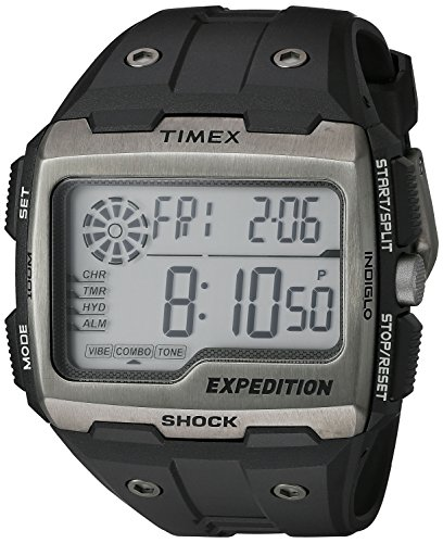 (Timex Men's TW4B02500 Expedition Grid Shock Black Resin Strap Watch)