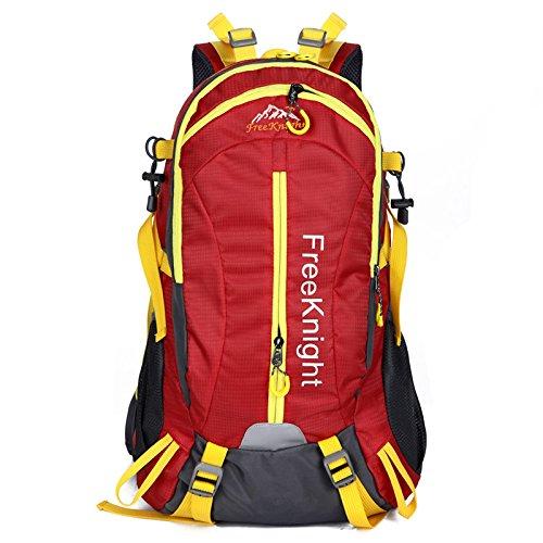 Mountaineering Bag Outdoor Männer und Frauen Schulter Rucksack nylon Wanderpackage wasserdichte Multifunktion Bergsteigen Taschen , orange
