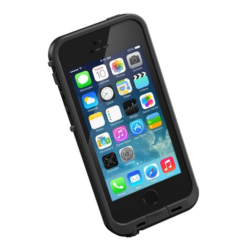 LifeProof FRĒ iPhone 5/5s Waterproof Case - Retail Packaging - BLACK (Nuud Iphone 5 Case)