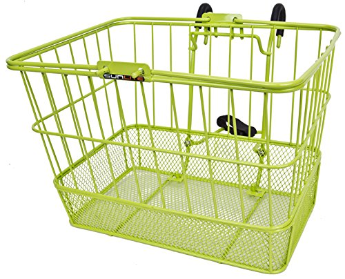 Sunlite Wire/Mesh Lift Off Basket Lime Green