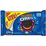 Pack of 2 Limited Edition Halloween Oreo Orange Creme Family Size Pack 566g (1 lb) Oreo Cookies Combo Pack by Thirsty Jini