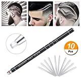Hair Tattoo Trim Styling Face Eyebrow Shaping Device, Joyeah Hair Engraving Pen + 10 Blades + Tweezers Hair Styling Eyebrows Beards Razor Tool