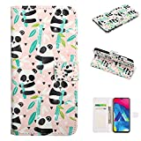 Shinyzone Cartoon Wallet Case for Samsung Galaxy M10,PU Leather Case with Card Slots Holder 3D Fancy Design with Stand Magnetic Closure Marble Pattern Folio Flip Case Cover,Bamboo Panda