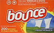 Bounce Fabric Softener Dryer Sheets, Outdoor Fresh, 200 Count