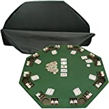 poker table chairs - Trademark Deluxe Poker and Blackjack Table Top with Case