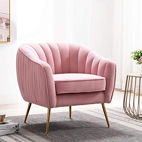Altrobene-Velvet-Accent-Chair-Modern-Arm-Chair-For-Living-Room-Bedroom-Home-Office-With-Gold-Finished-Legs-Blush-Pink