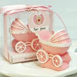Cartoon Stroller Newborn Baby Cot Charming Gifts Party Candles Smokeless Candles Birthday Candles for Baby Shower and Wedding Favor Keepsake Favor